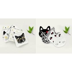 Lingettes lavable fan de chat