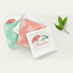Lingettes lavable flamant rose