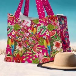 Sac de plage perroquets exotiques