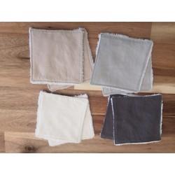 Lingettes lavables coton uni