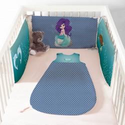 Parrure de lit bébé sirène