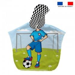 Poncho éponge Footballeur