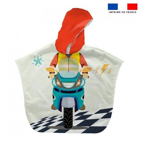 Poncho éponge moto