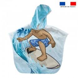 Poncho éponge surfeur