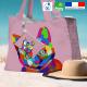 Sac de plage chat multicolor