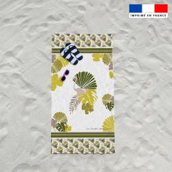 Serviette de plage palme éxotique
